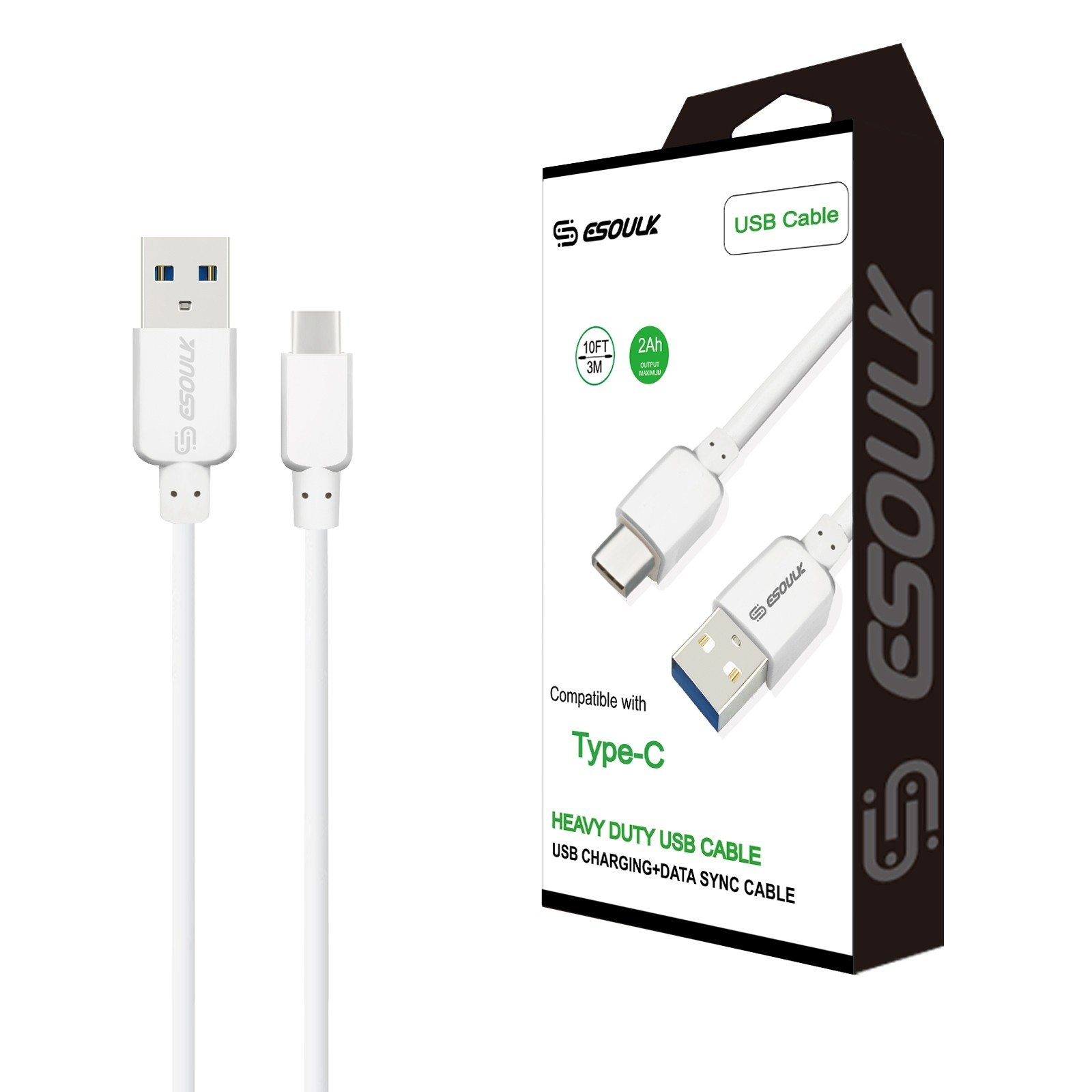 heavy duty metal braided lightning usb charger cable 3m  usb cord  10ft  white