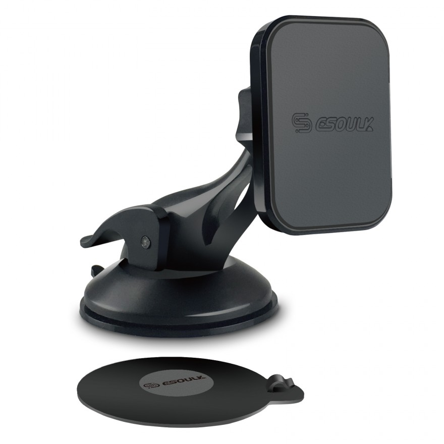 EH04P-BK:Esoulk Magnetic Car Phone Holder Dashboard Windshield Mount With Dashboard Pad
