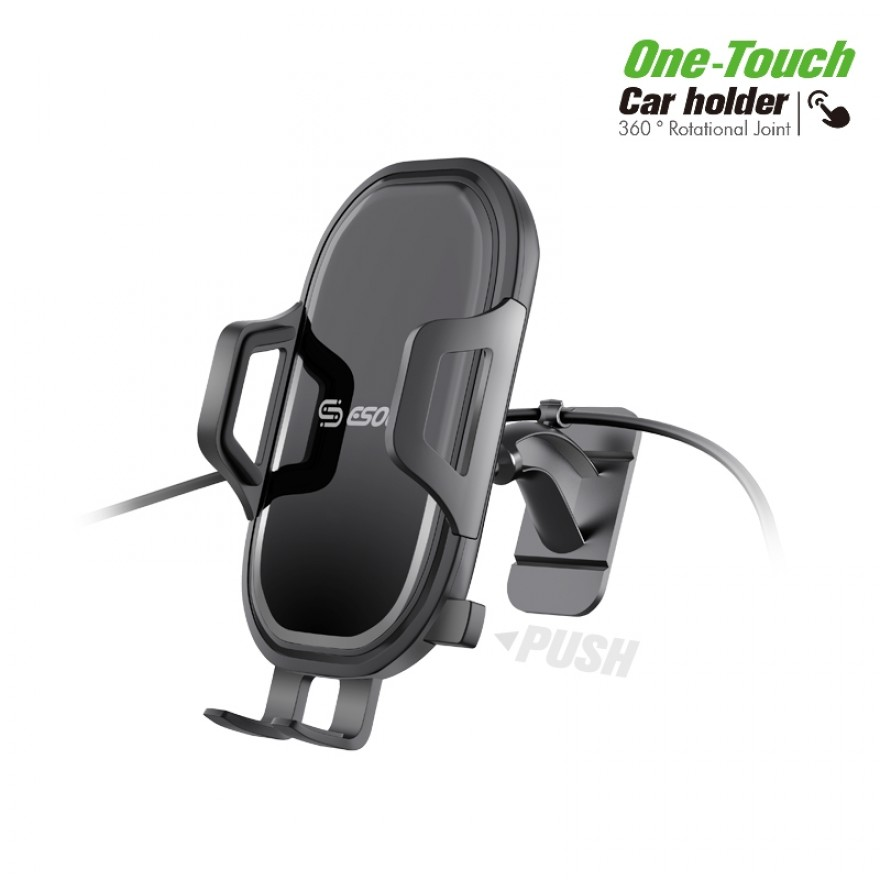 EH33BK:One Touch  with 3M stickers Car Mount