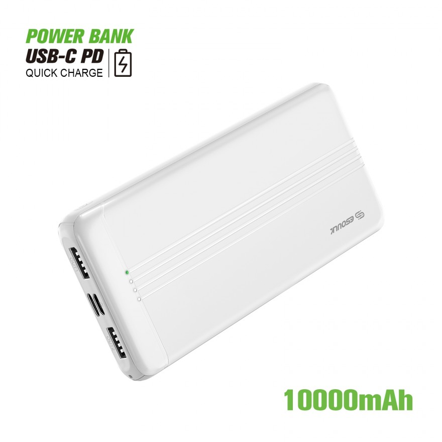 EP27-WH:10000mAh PD+QC3.0 POWER BANK 22.5W