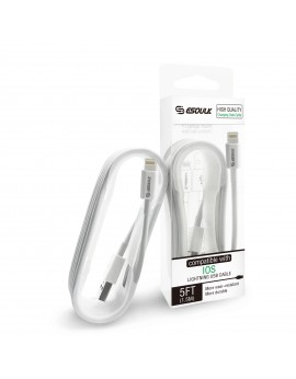 EC12P-IP-WH:Esoulk USB Cable For iOS (2A,5ft)