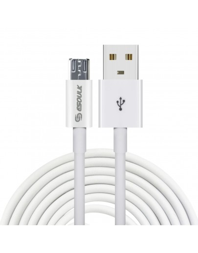 EC12P-MU-WH:Esoulk USB Cable For Mirco USB (2A,5ft)