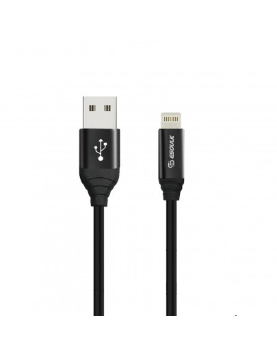 EC42P-IP-BK ESOULK 2.4A Premium USB Cable With Earphone Port (6ft/1.8M)