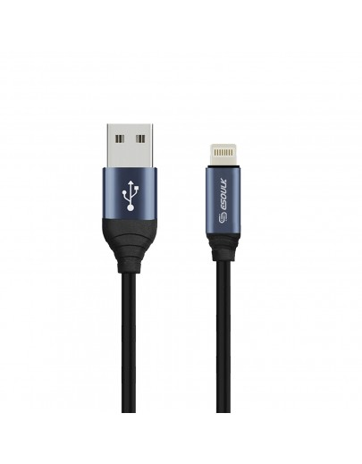 EC42P-IP-GY ESOULK 2.4A Premium USB Cable With Earphone Port (6ft/1.8M)