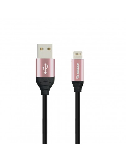 EC42P-IP-RG:ESOULK 2.4A Premium USB Cable With Earphone Port (6ft/1.8M)