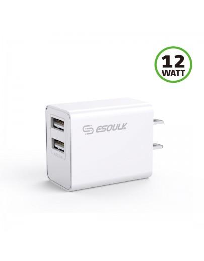 EA14-WH: 2.4A Dual USB Wall Adapater