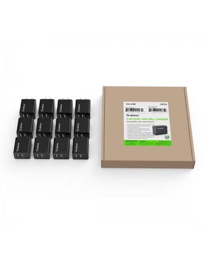 EA14-BK: 2.4A Dual USB Wall Adapater