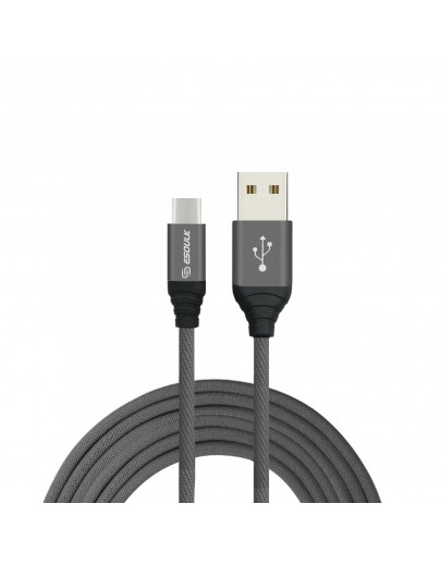 EC40P-TPC-Gray Esoulk 2A Heavy Duty Braided USB Cable 2M (6.6ft)