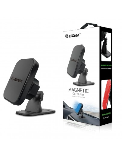 EH05PBK: Esoulk Stick On Dashboard Magnetic Car Mount Holder-Black