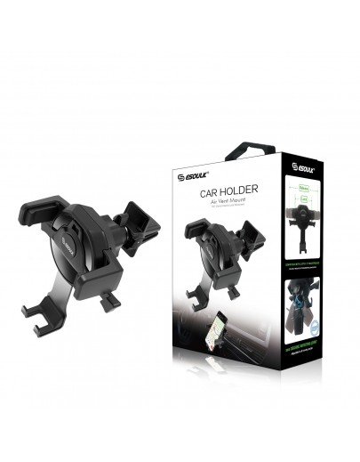 EH06P-Esoulk One Touch Air Vent Car Mount Phone Holder-Black