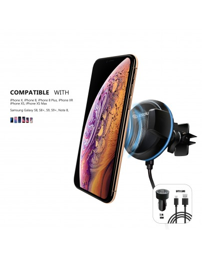 EH31P Wireless Charging Car Air Vent Holder