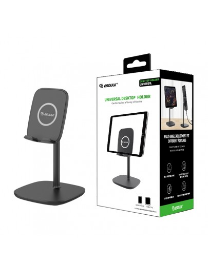 EH10P-BK:Esoulk Universal Tablet Stand Desktop Holder-Black