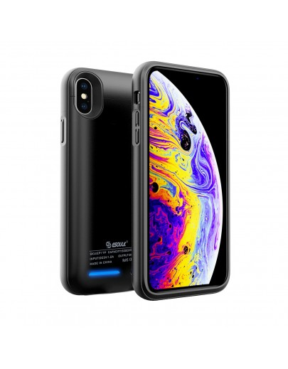 EP15P-X/XS-BK:Esoulk Magnet Porwer Case For iPhone X/XS 4000mAh (Compatible with iphone earphone )