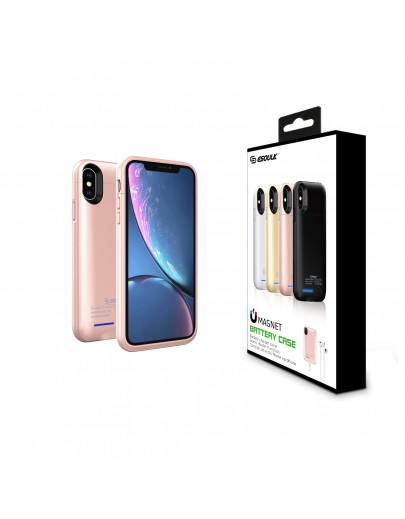 EP15P-X/XS-RG:Esoulk Magnet Porwer Case For IPhone X/XS 4000mAh (Compatible With Iphone Earphone )
