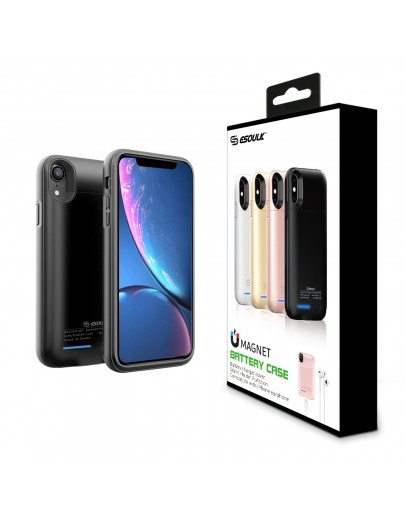 EP16P-XR-BK:Esoulk Magnet Porwer Case For IPhone XR 4000mAh (Compatible With Iphone Earphone )