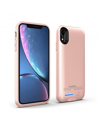 EP16P-XR-RG:Esoulk Magnet Porwer Case For IPhone XR 4000mAh (Compatible With Iphone Earphone )