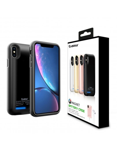 EP17P-XSMAX-BK:Esoulk Magnet Porwer Case For IPhone XS MAX 5000mAh (Compatible With Iphone Earphone )