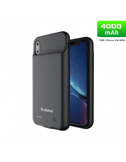 EP20P-IPMAX-BK:4000mAh TPU Rubber Battery Case Compatible Headset For iPhone XS MAX Black