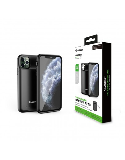 EP22-11P-BK:3500mAh TPU Rubber Battery Case Compatible Headset For iPhone 11 Pro Black