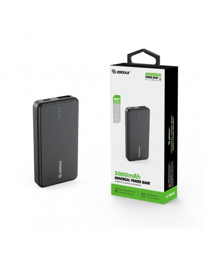 EP24-BK: 3000 mAh UNIVERSAL POWER BANK