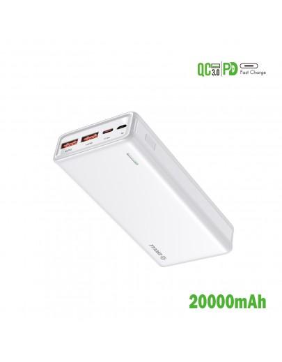 EP29-WH:20000mAh PD+QC Power Bank 22.5W