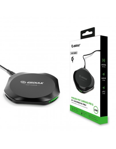 EW01P-BK Esoulk QI Certified Wireless Charging Fast Charger Pad 10W