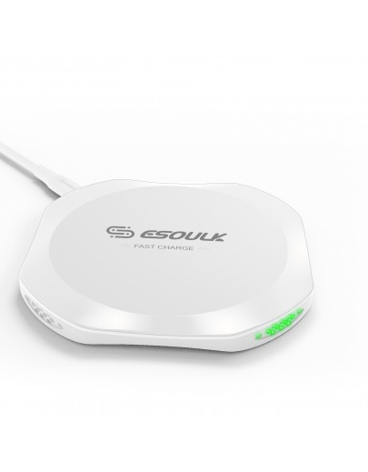 EW01P-WH Esoulk QI Certified Wireless Charging Fast Charger Pad 10W