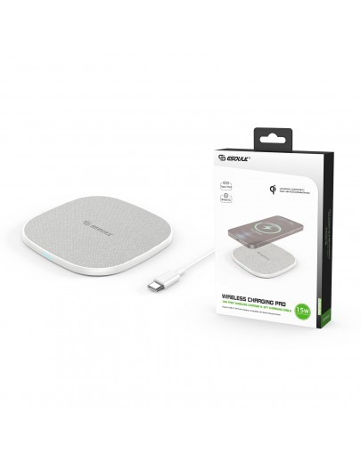 EW06-WH:15W QI WIRELESS CHARGER & 5FT TYPE-C CHARGING CABLE