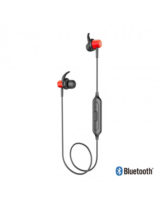 EE06-RD:Bluetooth Sport Headset Metal shell with Magnet Red