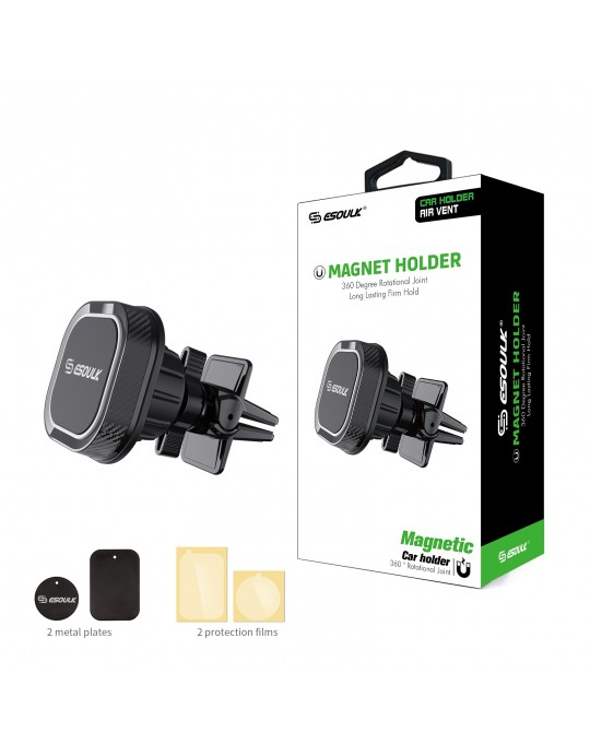 EH08PBK:Esoulk Magnet Air Vent Holder Black