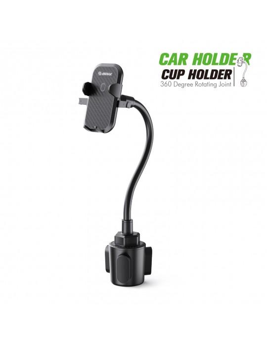 EH37BK: Cup Holder Mount 11 inch flexible gooseneck