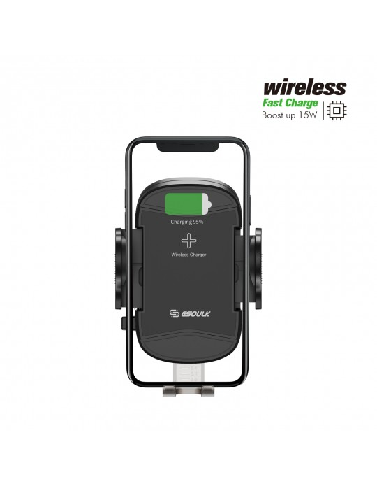 EH39BK:15W Wireless Charger Air Vent Car Holder