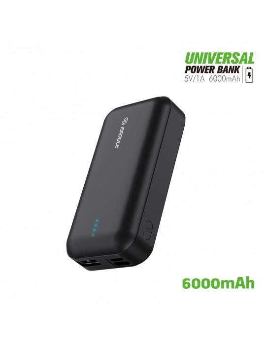 EP25P-BK: 6000 mAh UNIVERSAL POWER BANK