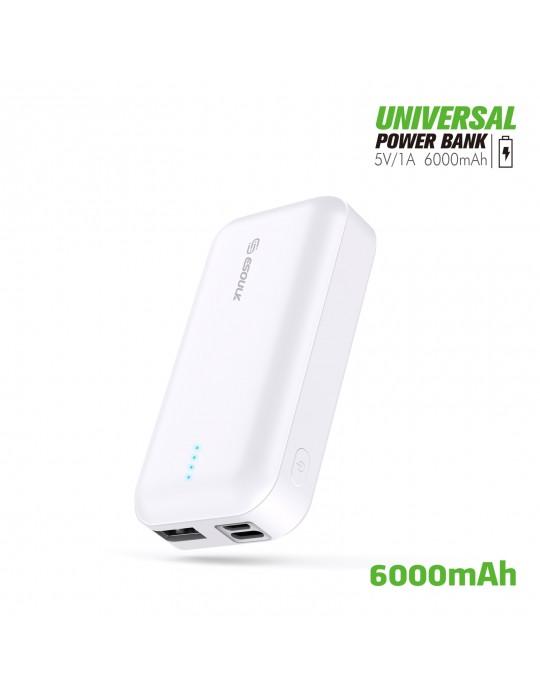 EP25-WH: 6000 mAh UNIVERSAL POWER BANK