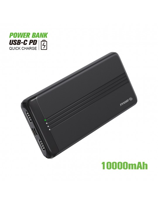 EP27-BK:10000mAh PD+QC3.0 POWER BANK 22.5W
