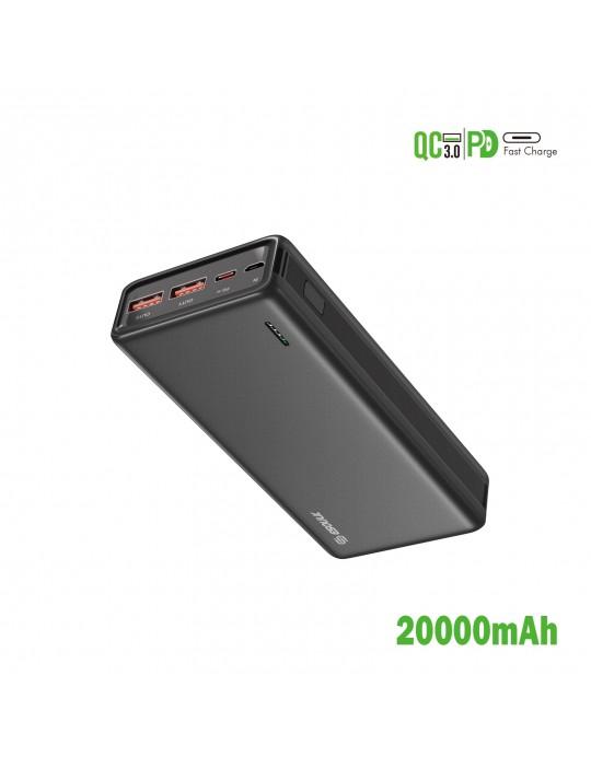 EP29-BK:20000mAh PD+QC Power Bank 22.5W