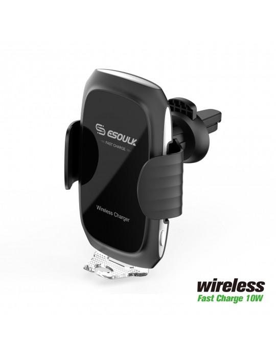 EW04PBK:10W Wireless Fast Charging Air Vent Car Mount Black